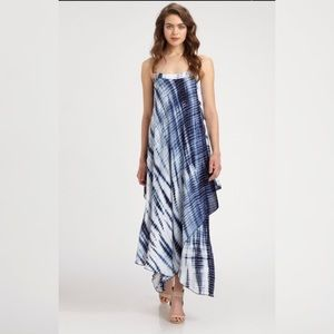NEW! Michael Kors Silk Asymmetrical Maxi Dress